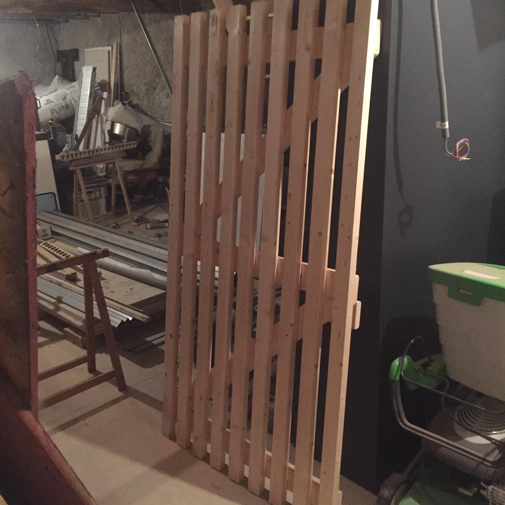 Fabrication barrière en bois