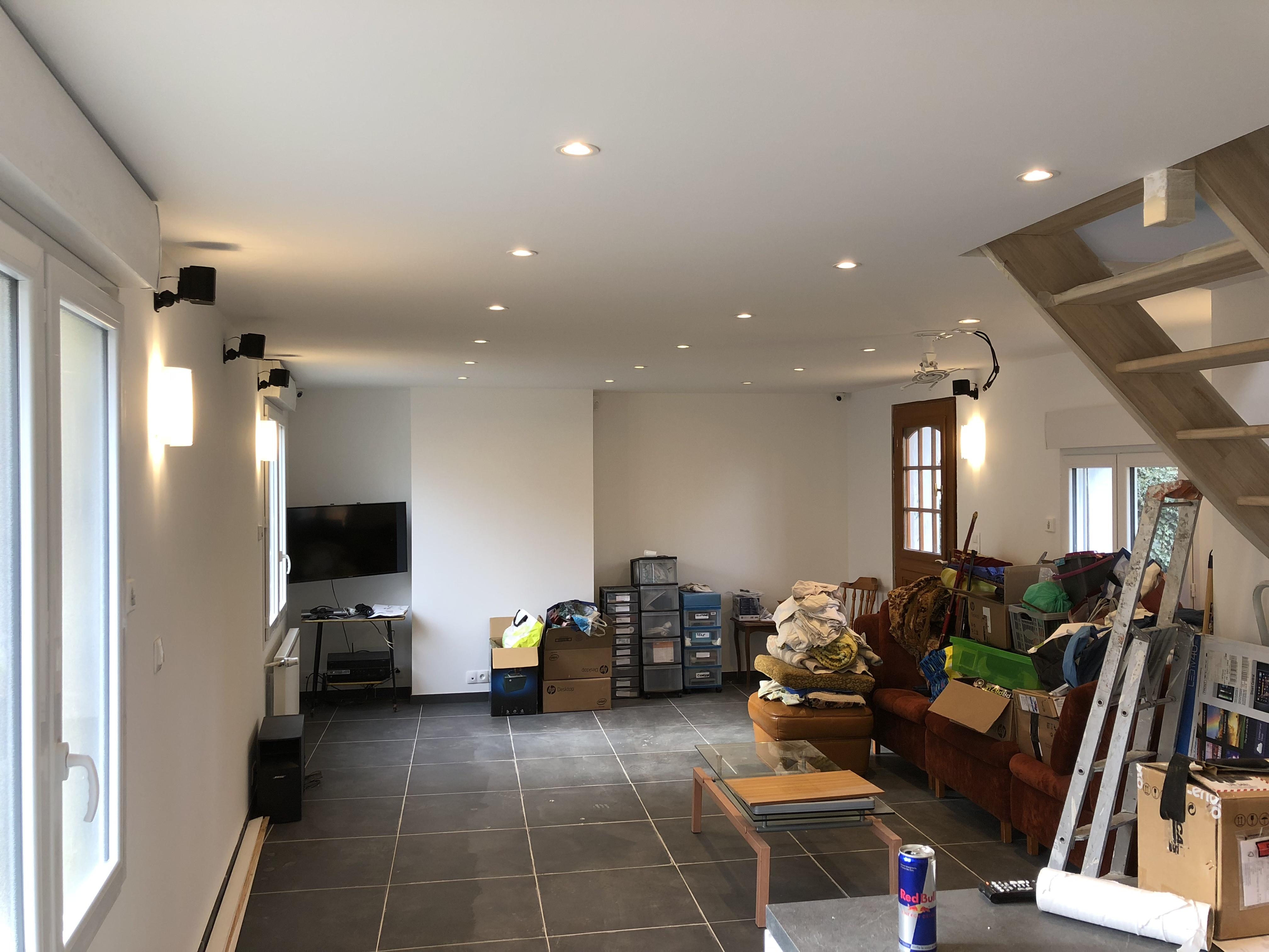 Rénovation mur, plafond & pose carrelage sol