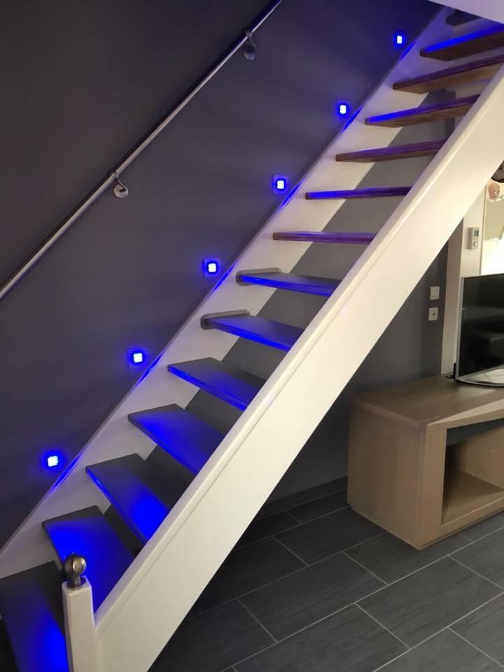 Rénovation escalier & pose lumières